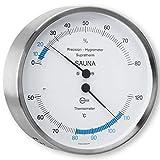 SAUNA – Thermometer Hygrometer, Edelstahlgehäuse Ø 132mm