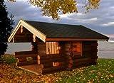 JUNIT Kelosauna mit 7,5m² Grundfläche Gartensauna Saunahaus