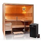 Sauna 214 x 160 Glas Harvia Virta Saunaofen HL90 Xenio Steuergerät CX110