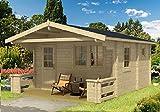 Gartenhaus Sauna PEKKA 70 ISO Blockhaus 445x445cm 70mm Blockhaus Holzhaus