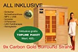 Ivar-3 Topline 3 Personen Sauna Infrarotkabine & Infrarotsauna / 1900 Watt/Infrarot Wärmekabine und viele Extras