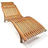 Ampel 24 Sonnenliege Cannes, Gartenliege ergonomisch geschwungen, Relaxliege mit wählbarer Liegeposition, wetterfeste Gartenliege aus Holz