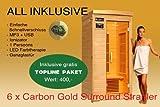 Ivar-1 Topline Große 1 Person Sauna Infrarotkabine & Infrarotsauna / 1200 Watt/Infrarot Wärmekabine und viele Extras