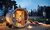 FinnTherm Fass-Sauna Sam, unbehandelt/Natur, inkl. Elektro-Ofen (6 kW)
