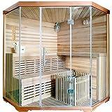 Eck-Sauna für 4 Personen, B 1,8m (180x74x148x74x180 cm, Höhe 2 m)