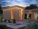 i Premium Gartensauna Fagus mit Elektro- Saunaofen Irmina Slimline mit 9 kW Heizleistung