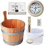 SudoreWell® Sauna Starter Set 4 / Saunazubehör Set 7-teilig