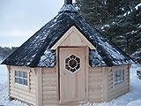 JUNIT SKF165V1 16,5 m2 Saunakota mit Vorraum, Fichte für ca. 9 Personen