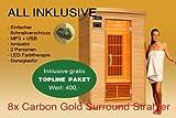 Ivar-2 Topline Große 2 Personen Sauna Infrarotkabine & Infrarotsauna / 1650 Watt/Infrarot Wärmekabine und viele Extras