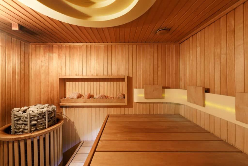 atmosph risch effektiv saunaofen mit holz beheizung. Black Bedroom Furniture Sets. Home Design Ideas