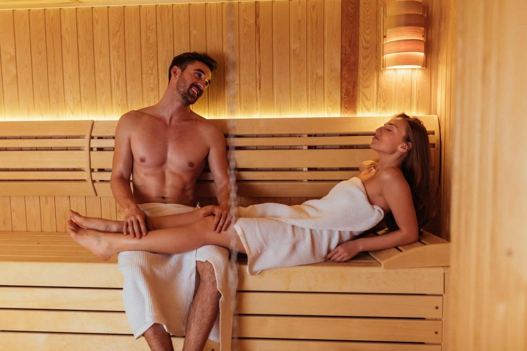 Letting the sauna relax them